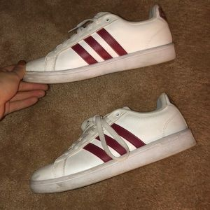 Adidas Red White Cloudfoam Original Superstars